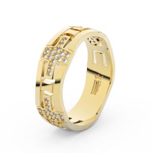 Dámský snubní prsten DF 3042 ze žlutého zlata, s brilianty 55