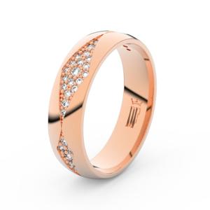 Dámský snubní prsten DF 3074 z růžového zlata, s briliantem 67