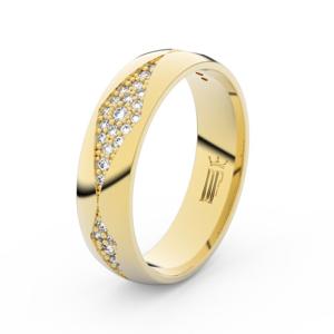 Dámský snubní prsten DF 3074 ze žlutého zlata, s brilianty 53