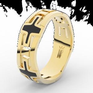 Pánský snubní prsten Danfil DLR3043 žluté zlato, bez kamene, povrch lesk 48