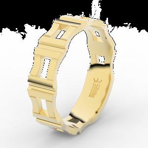 Pánský snubní prsten Danfil DLR3085 žluté zlato, bez kamene, povrch lesk 69