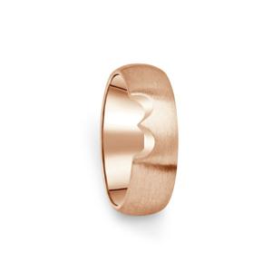 Prsten Danfil DF03/D červené(růžové) zlato 585/1000 bez kamene, povrch brus 66