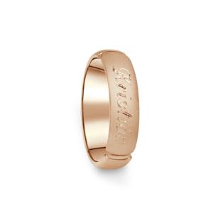 Prsten Danfil DF04/D červené(růžové) zlato 585/1000 s bez kameneem povrch písek 54