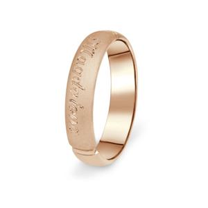 Prsten Danfil DF04/P červené(růžové) zlato 585/1000 s bez kameneem povrch písek 69