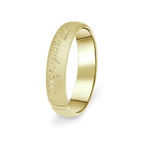 Prsten Danfil DF04/P žluté zlato 585/1000 s bez kameneem povrch písek 50