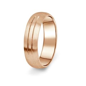 Prsten Danfil DF13/P červené(růžové) zlato 585/1000 s bez kameneem povrch brus 46