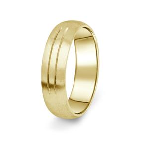 Prsten Danfil DF13/P žluté zlato 585/1000 s bez kameneem povrch brus 60