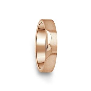 Prsten Danfil DF15/D červené(růžové) zlato 585/1000 bez kamene, povrch brus 57