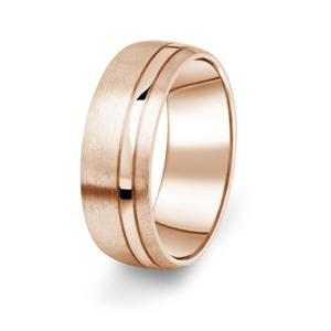 Prsten Danfil DF18/P červené(růžové) zlato 585/1000 s bez kameneem povrch brus 62