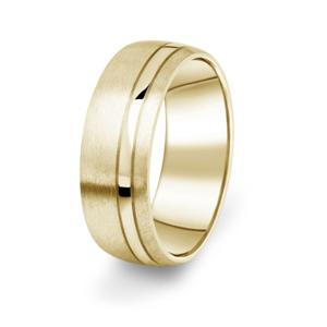 Prsten Danfil DF18/P žluté zlato 585/1000 s bez kameneem povrch brus 58