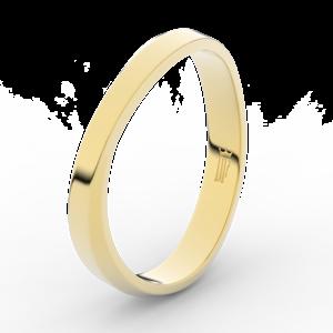 Prsten Danfil DLR3018 žluté zlato 585/1000 bez kamene povrch lesk 68