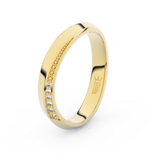 Prsten Danfil DLR3023 žluté zlato 585/1000 se zirkonem (White) povrch lesk 49