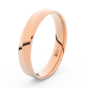 Prsten Danfil DLR3026 červené(růžové) zlato 585/1000 bez kamene povrch lesk 53
