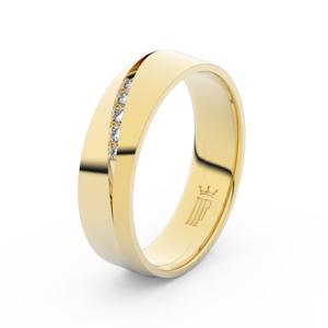 Prsten Danfil DLR3034 žluté zlato 585/1000 se zirkonem (White) povrch lesk 62