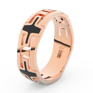 Prsten Danfil DLR3043 červené(růžové) zlato 585/1000 bez kamene povrch lesk 53