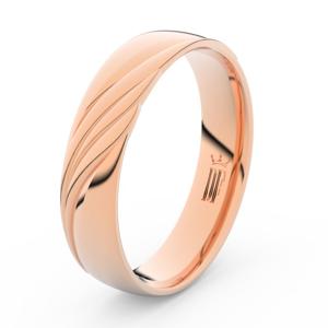 Prsten Danfil DLR3045 červené(růžové) zlato 585/1000 bez kamene povrch lesk 48