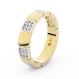 Prsten Danfil DLR3057 žluté zlato 585/1000 se zirkonem (White) povrch RH 69