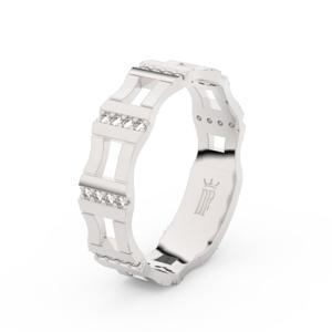 Prsten Danfil DLR3084 bílé zlato 585/1000 se zirkonem (White) povrch lesk 59
