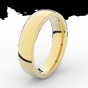 Prsten Danfil DLR3887 žluté zlato 585/1000 bez kamene povrch lesk 54