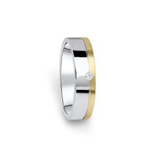 Zlatý dámský prsten DF 05/D, s briliantem 63