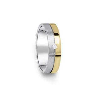 Zlatý dámský prsten DF 06/D, s briliantem 48