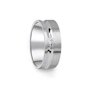 Zlatý dámský prsten DF 07/D z bílého zlata, s briliantem 53