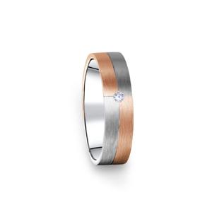 Zlatý dámský prsten DF 09/D, s briliantem 47