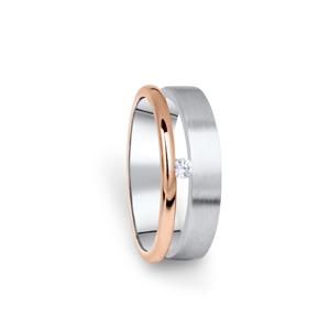 Zlatý dámský prsten DF 11/D, s briliantem 52