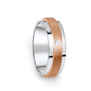 Zlatý dámský prsten DF 12/D, s briliantem 59