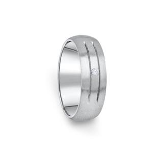 Zlatý dámský prsten DF 13/D z bílého zlata, s briliantem 59