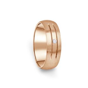 Zlatý dámský prsten DF 13/D z růžového zlata, s briliantem 61