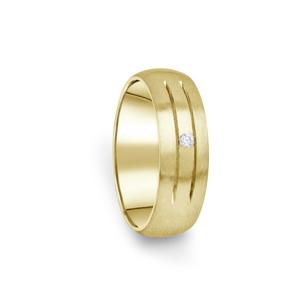 Zlatý dámský prsten DF 13/D ze žlutého zlata, s briliantem 70