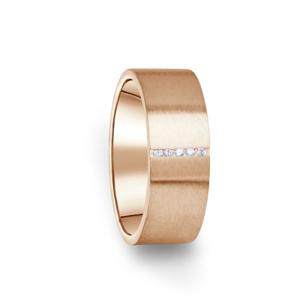 Zlatý dámský prsten DF 17/D z růžového zlata, s briliantem 50