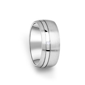 Zlatý dámský prsten DF 18/D, s briliantem 59
