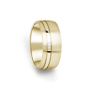 Zlatý dámský prsten DF 18/D ze žlutého zlata, s briliantem 51