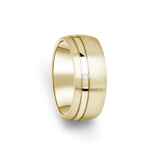 Zlatý dámský prsten DF 18/D ze žlutého zlata, s briliantem 59
