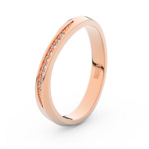 Zlatý dámský prsten DF 3017 z růžového zlata, s briliantem 49