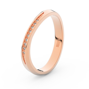 Zlatý dámský prsten DF 3017 z růžového zlata, s briliantem 69