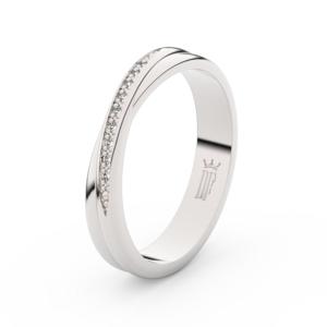 Zlatý dámský prsten DF 3019 z bílého zlata, s brilianty 47