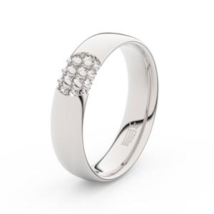 Zlatý dámský prsten DF 3021 z bílého zlata, s briliantem 47