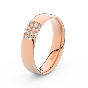 Zlatý dámský prsten DF 3021 z růžového zlata, s briliantem 63