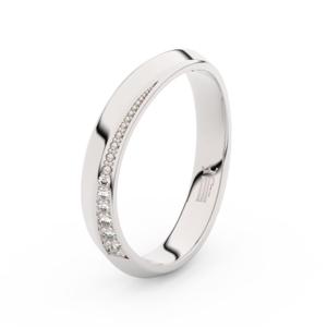 Zlatý dámský prsten DF 3023 z bílého zlata, s brilianty 70