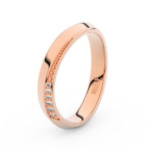 Zlatý dámský prsten DF 3023 z růžového zlata, s briliantem 61