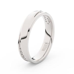 Zlatý dámský prsten DF 3025 z bílého zlata, s brilianty 53