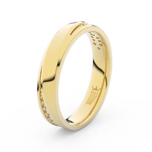 Zlatý dámský prsten DF 3025 ze žlutého zlata, s briliantem 54