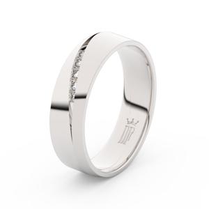Zlatý dámský prsten DF 3034 z bílého zlata, s brilianty 62