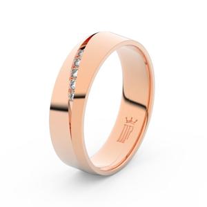 Zlatý dámský prsten DF 3034 z růžového zlata, s briliantem 65