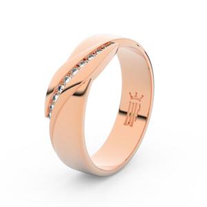 Zlatý dámský prsten DF 3039 z růžového zlata, s briliantem 55
