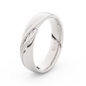 Zlatý dámský prsten DF 3044 z bílého zlata, s briliantem 52