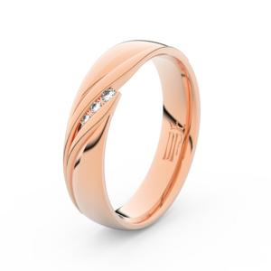 Zlatý dámský prsten DF 3044 z růžového zlata, s briliantem 68